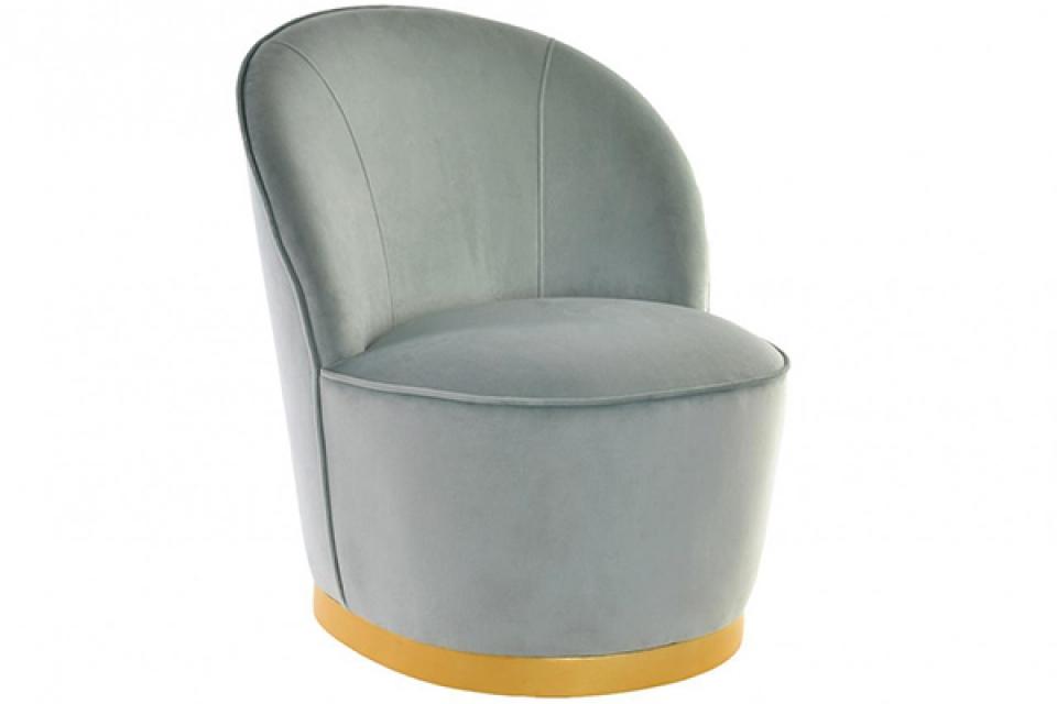 Zeleno zlatna fotelja 52x62x67