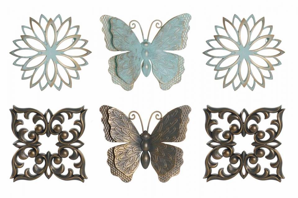 Zidna dekoracija butterfly / 3 25x25