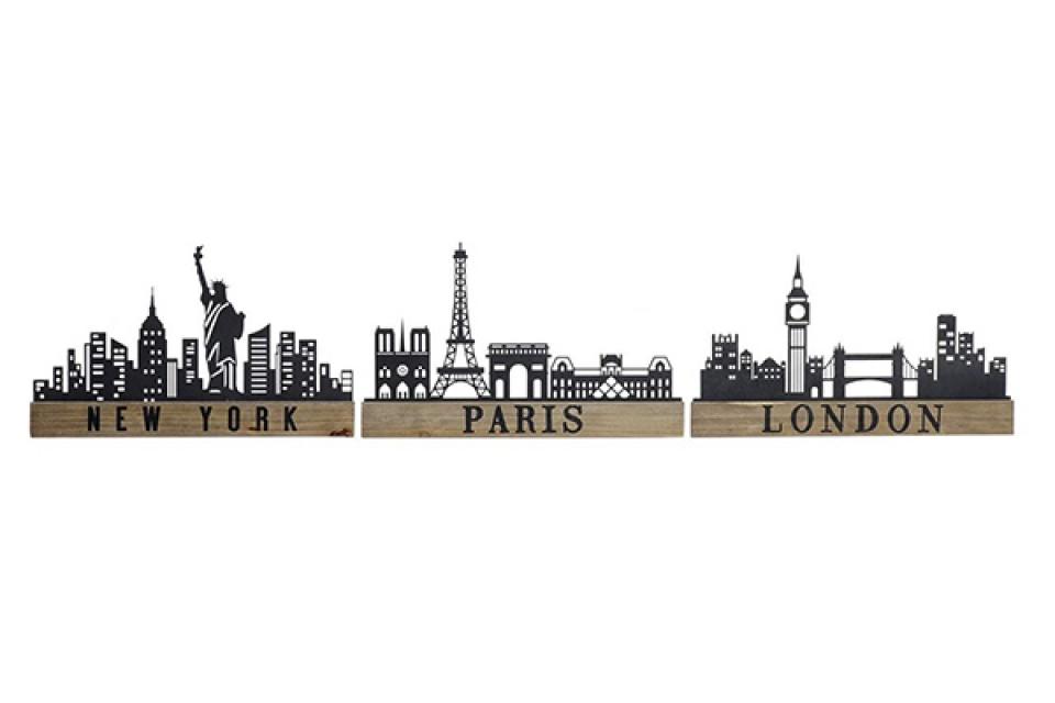 Zidna dekoracija cities 41x1,2x24,5 3 modela