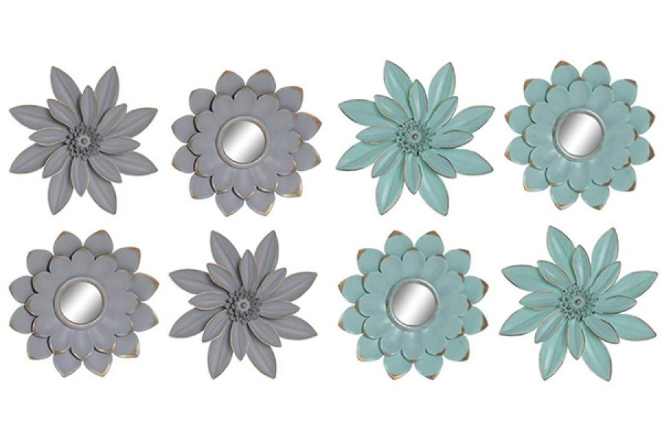 Zidna dekoracija floral pp / 4 25x25 2 modela