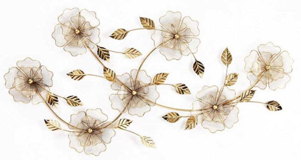 Zidna dekoracija flower sparkly 100x7x51