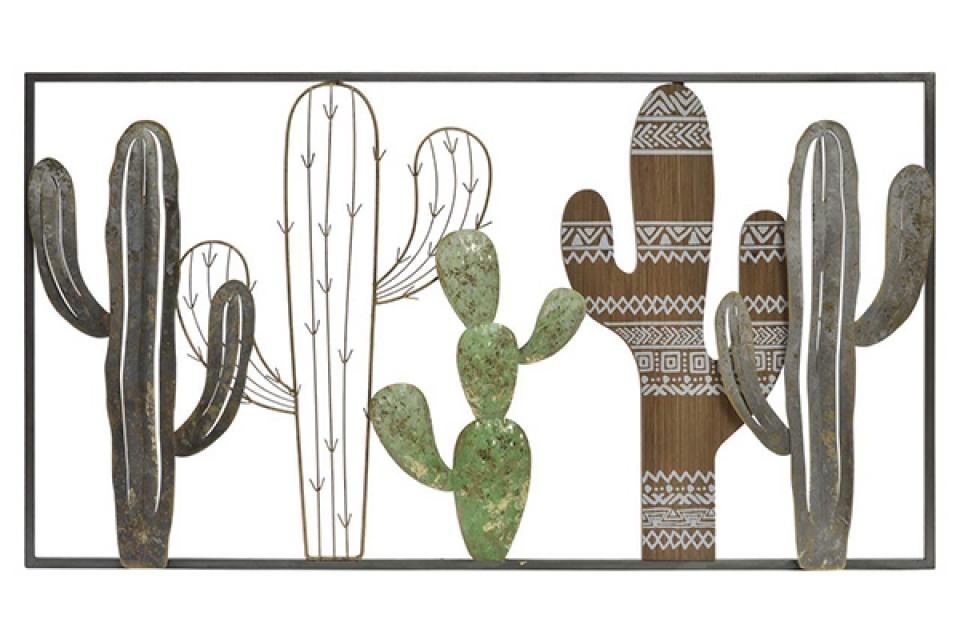 Zidna dekoracija green cactus 145x22x82
