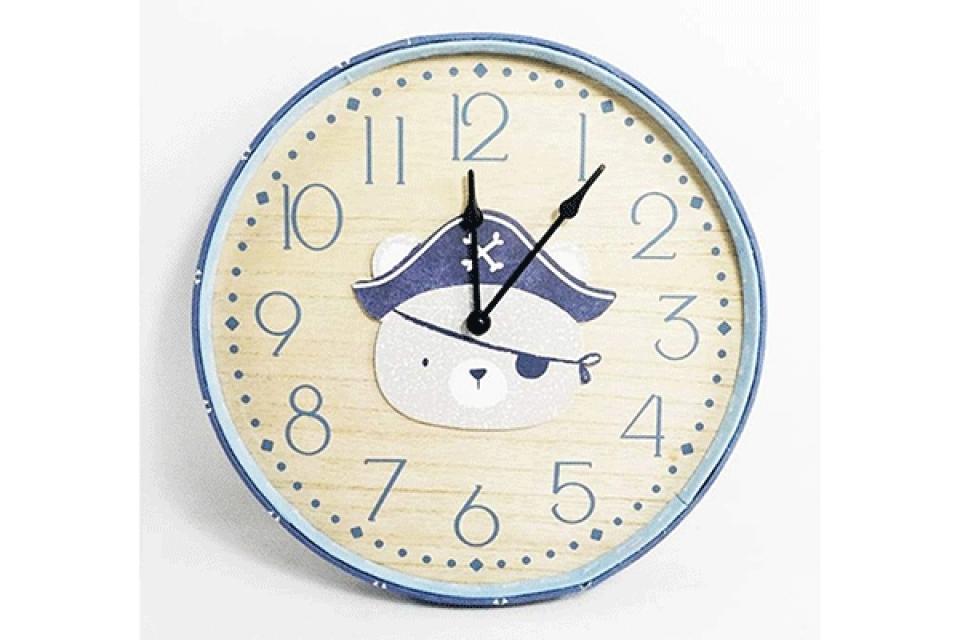 Zidni dečiji sat pirat 31x4x31