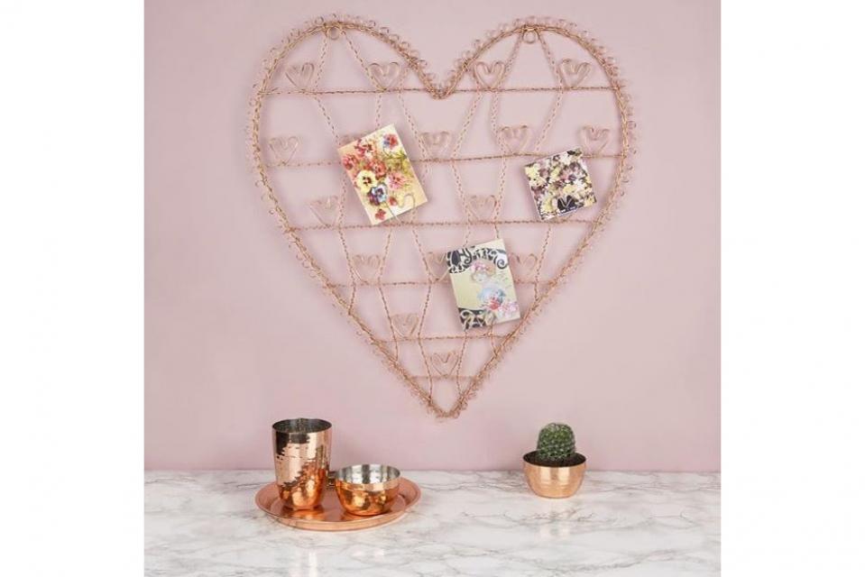 Zidni držač nakita u obliku srca 31x31x4