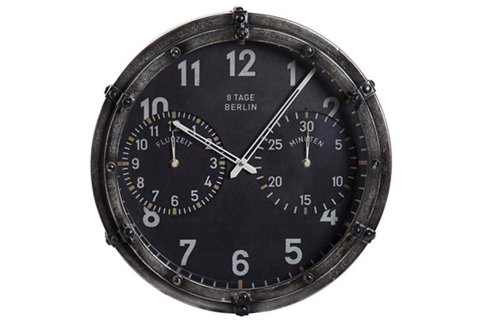Zidni sat black 46x46x17