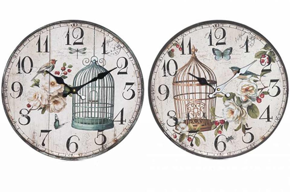 Zidni sat cage 34 cm