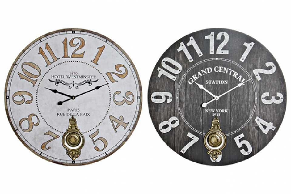 Zidni sat pendulum 58x4x58 2 modela