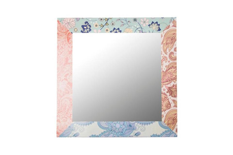 Zidno ogledalo cvetni motiv 70x70x2