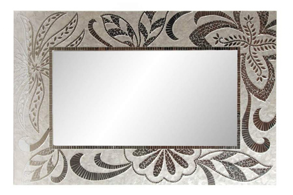 Zidno ogledalo floral 80x122x4