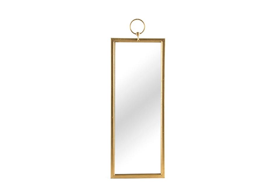 Zidno zlatno ogledalo 18,5x50,5x2